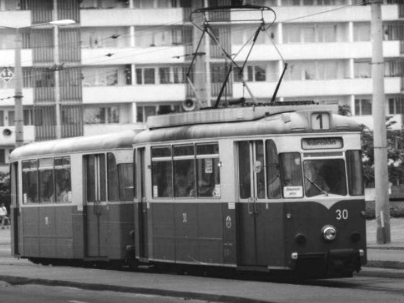 In der Karl-Marx-Straße im Jahr 1984