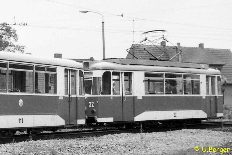 Triebwagen 32 im Jahr 1988