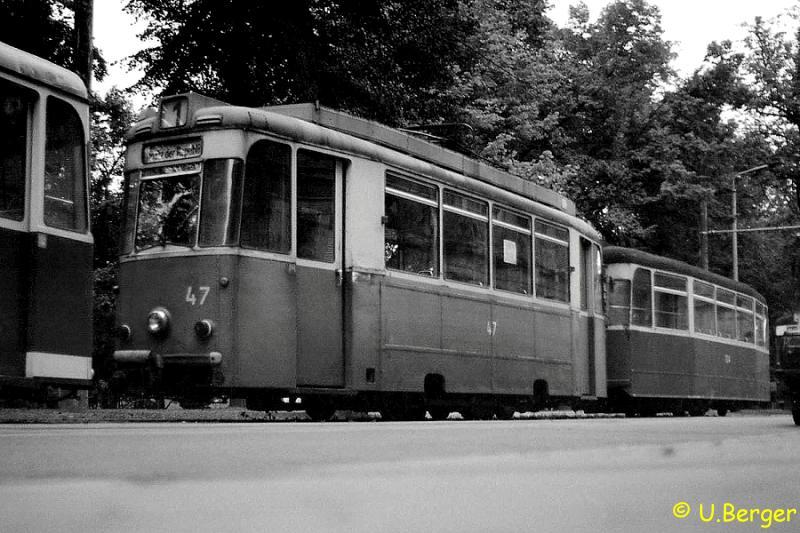 Wagen 47 mit Beiwagen 134