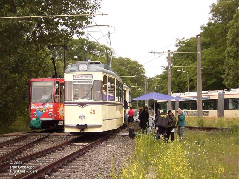 Dreharbeiten mit historischem Zug