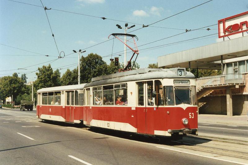 Gotha-Tw 53 mit Einholmstromabnehmer