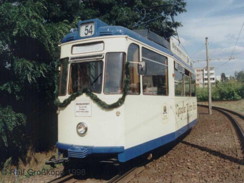 Abschiedsfahrt Partywagen 54