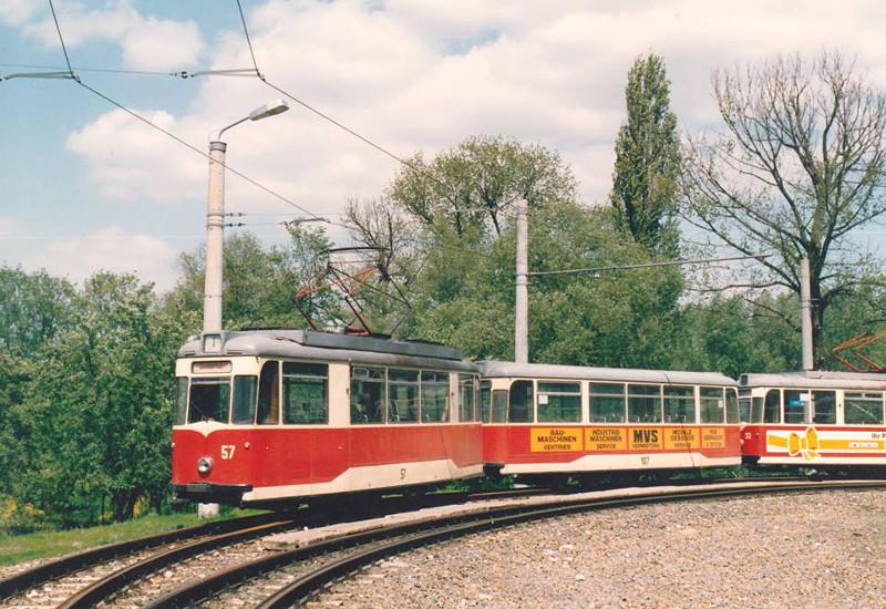 Gothawagen 57 und 107 am Stadion