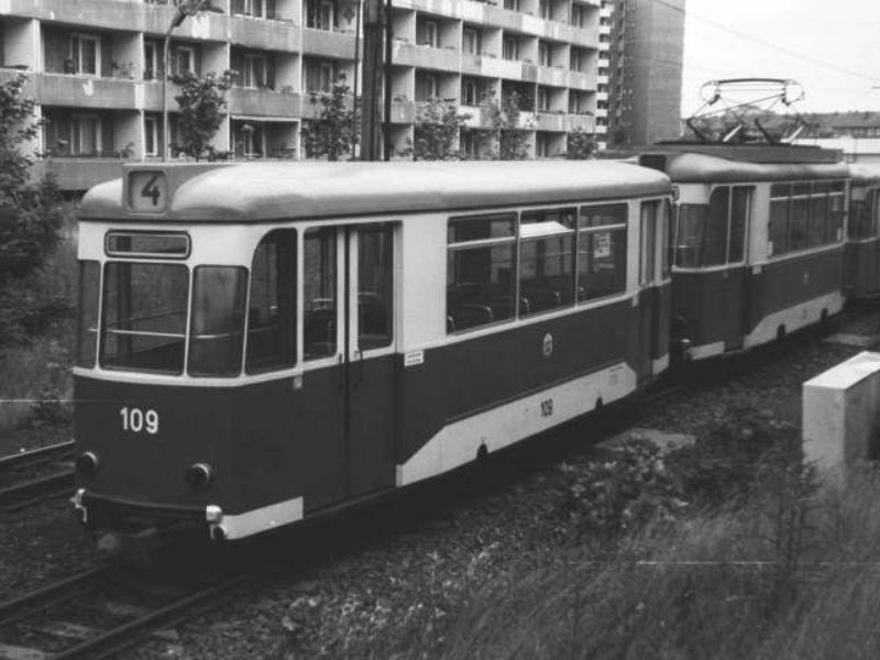 Gotha-Beiwagen 109 im Jahr 1984 am Südring