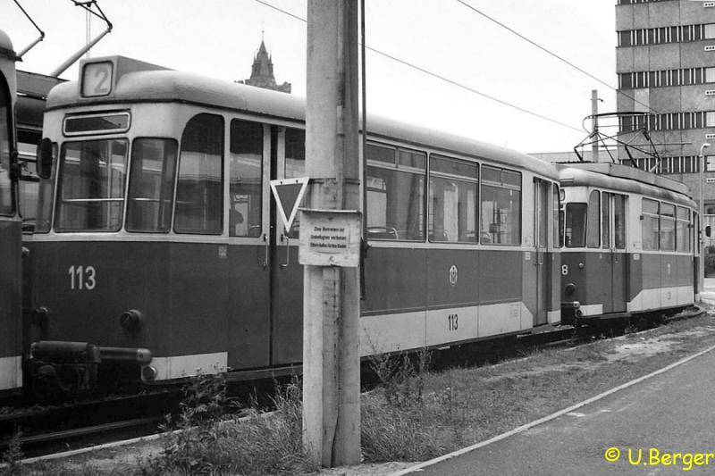 Beiwagen 113 in der Schleife Große Oderstraße