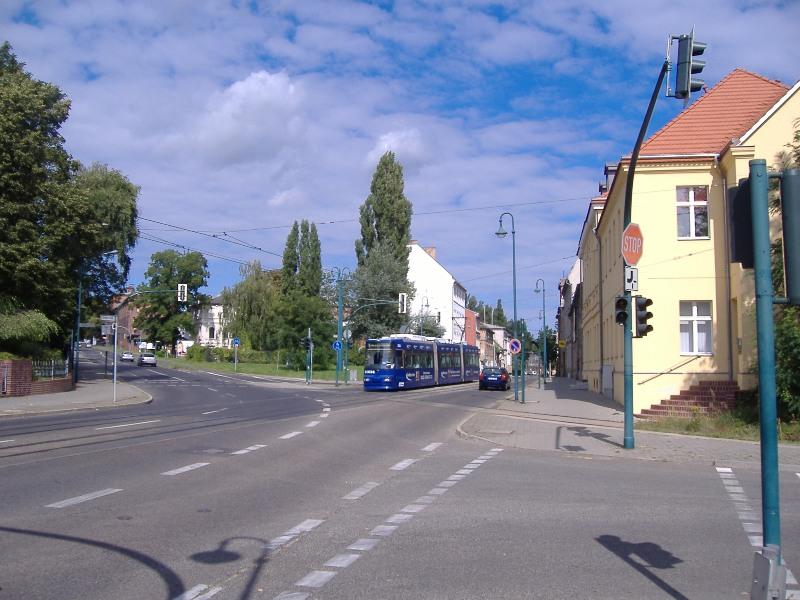 Gleiskreuzung Straßenbahn/Hafenbahn Berliner Straße