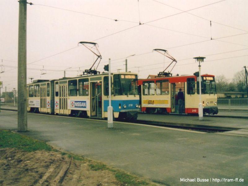 KT4D-Tw 216 und 212 in Markendorf 1994