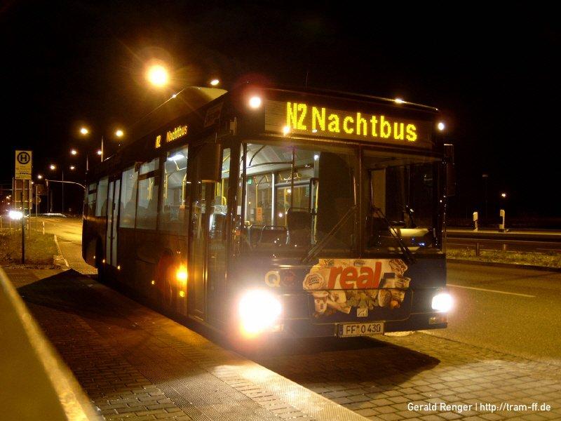 Wagen 430 im Nachtverkehr