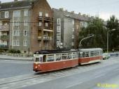 Gleisdreieck Bahnhofstraße im Sommer 1986
