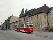Hafenbahnkreuzung im Frühling 1989