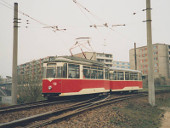 Gotha-Zug im Gleisdreieck Johann-Eichorn-Straße