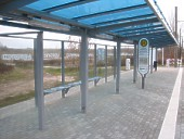 Bahnsteigüberdachung Conergy SolarModule