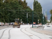 Baustelle am Bahnhof am 26. August 2008