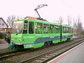 KT4DM 207 in grüner Totalreklame