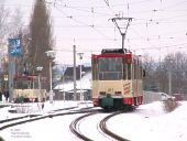 Einfahrt in die Endstelle Markendorf