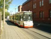 Niederflurbahn in der Gartenstraße