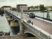 Im Krieg zerstörte, steinerne Oderbrücke