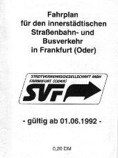 Fahrplanheft 1992